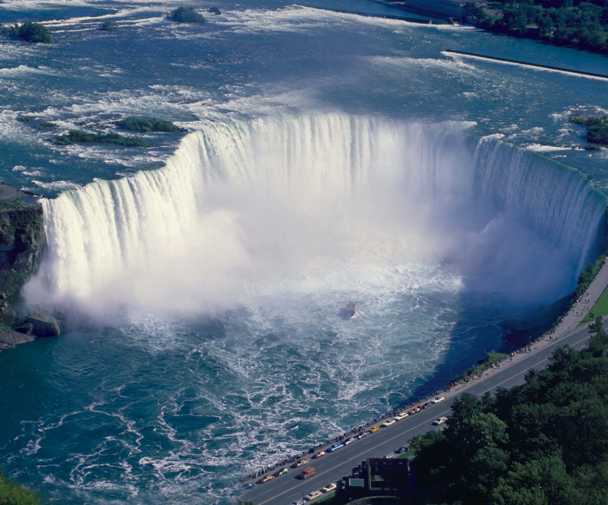 42-floor Embassy Suites By Hilton® Fallsview Hotel overlooking the famous horseshoe falls in Niagara Falls, Ontario, Canada